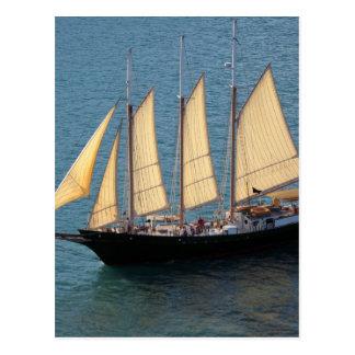 Schooner-Boot Postkarte