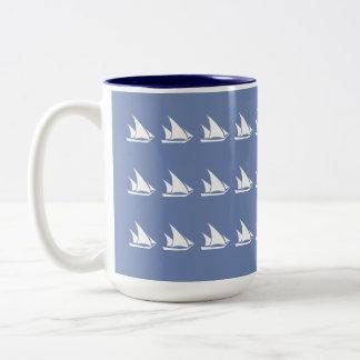 Schooner-Segel Zweifarbige Tasse