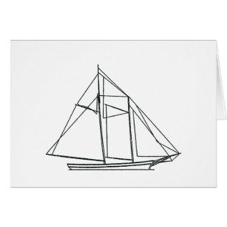 Schooner-Segelboot Karte