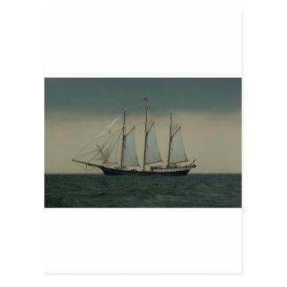 Schooner vor der niederländischen Küste Postkarte