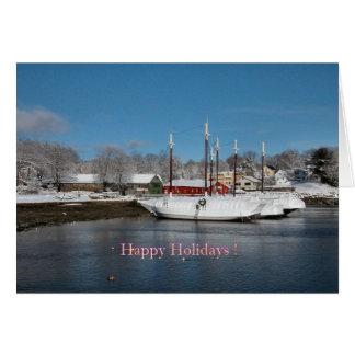 Schooner-Weihnachtskarte - 1 Karte