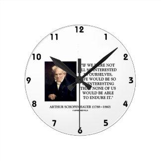 Schopenhauer alles so interessierte an uns selbst runde wanduhr
