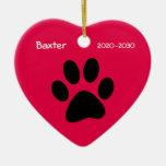 Schoßhund-Erinnerungsweihnachtsverzierung Weihnachtsornament