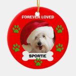 Schoßhund-Erinnerungsweihnachtsverzierungs-Geschen Ornament