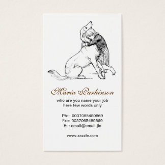 Schoßhund- und Menschenfreundschafts-Visitenkarten Visitenkarte