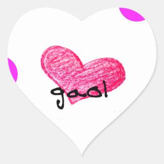 Schotte-gälische Sprache des Liebe-Entwurfs Herz-Aufkleber
