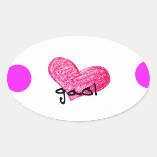 Schotte-gälische Sprache des Liebe-Entwurfs Ovaler Aufkleber