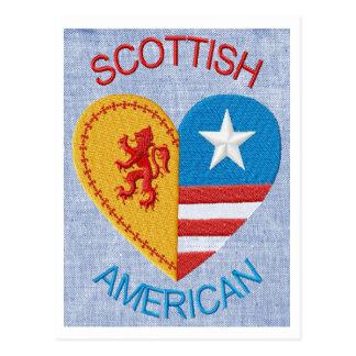 Schottische amerikanische Postkarte