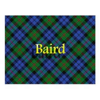 Schottische Clan-Baird-Postkarte Postkarte