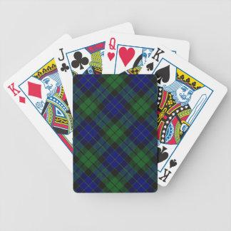 Schottische Clan MacKay Tartan-Plattform Bicycle Spielkarten