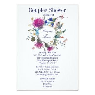 Schottische Distel-Blumenpaar-Polterabend 3 Karte