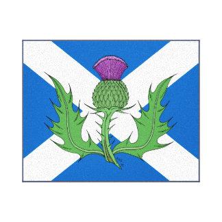 Schottische Distel und Saltire Leinwanddruck