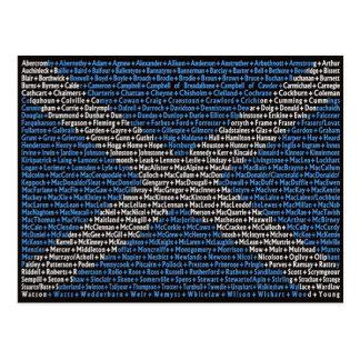 Schottische Familiennamen Postkarte