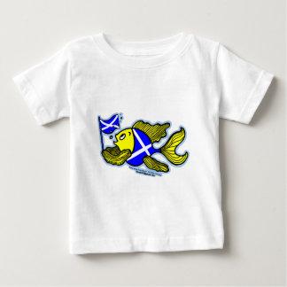 Schottische Fische mit schottische Baby T-shirt