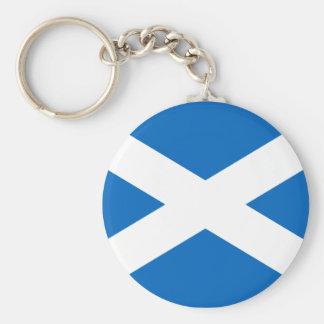 Schottische Flaggen-Schlüsselkette Standard Runder Schlüsselanhänger