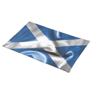 Schottische Flaggen-Stoff-Platz-Matte Tischset
