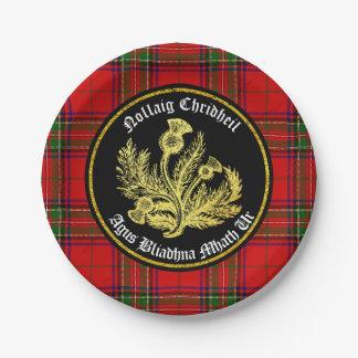 Schottische frohe Weihnachten und guten Rutsch ins Pappteller 17,8 Cm