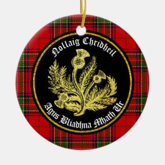 Schottische frohe Weihnachten und guten Rutsch ins Rundes Keramik Ornament