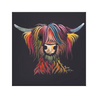 Schottische haarige Hochland-Kuh 'OLIVER ' Leinwanddruck