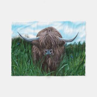 Schottische Hochland-Kuh-Malerei Fleecedecke
