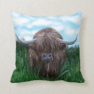 Schottische Hochland-Kuh-Malerei Kissen