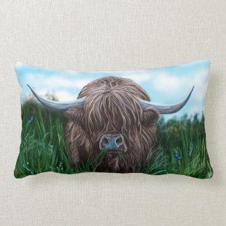 Schottische Hochland-Kuh-Malerei Zierkissen