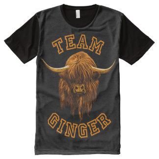 Schottische Hochland-Kuh. Team-Ingwer! T-Shirt Mit Bedruckbarer Vorderseite
