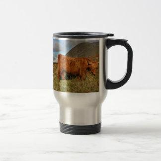 Schottische Hochland-Kühe - Schottland Edelstahl Thermotasse