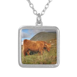 Schottische Hochland-Kühe - Schottland Versilberte Kette