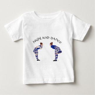 Schottische Hochland-Tanz-Spule Baby T-shirt
