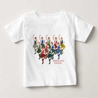 Schottische Hochland-Tänzer Baby T-shirt