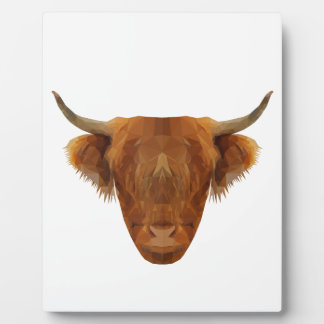 Schottische Hochland-Vieh-Schottland-Tier-Kuh Fotoplatte
