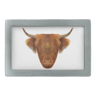 Schottische Hochland-Vieh-Schottland-Tier-Kuh Rechteckige Gürtelschnalle