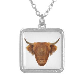 Schottische Hochland-Vieh-Schottland-Tier-Kuh Versilberte Kette