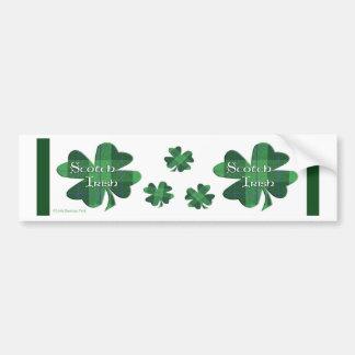 Schottische Iren Autoaufkleber