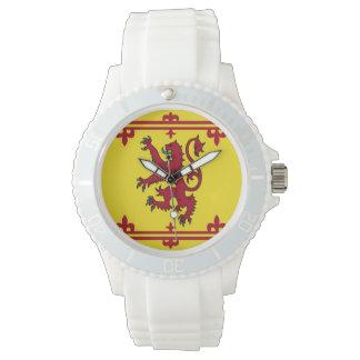 Schottische königliche Arm-Flagge Uhren