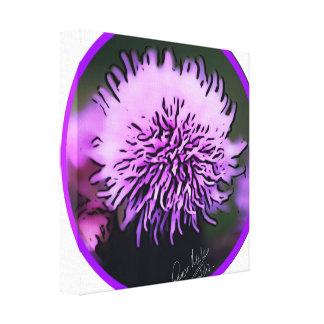 Schottische lila Distel-Kampagne Leinwanddruck
