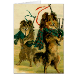 Schottische Pfeifer-Hunde Karte