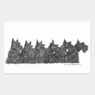 Schottische Terrier-Ansammlung Rechteckiger Aufkleber