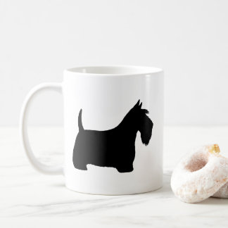 Schottische Terrier-Silhouetten Kaffeetasse
