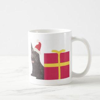 Schottische Terrier-Weihnachtsmannmütze Kaffeetasse