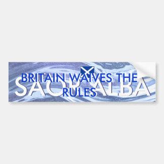 Schottische Unabhängigkeit Großbritannien gibt die Autoaufkleber