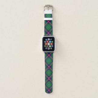 Schottischer Art-Clanjunger Tartan kariert Apple Watch Armband