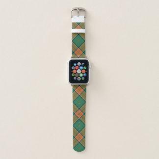 Schottischer Art-ClanPollockTartan kariert Apple Watch Armband