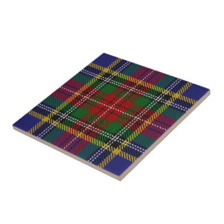 Schottischer AusdrückeTartan Clan-Macbeth Kleine Quadratische Fliese