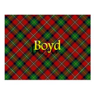 Schottischer Clan Boyd Postkarte