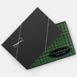 Schottischer Clan Currie Tartan-karierte Hochzeit Gästebuch