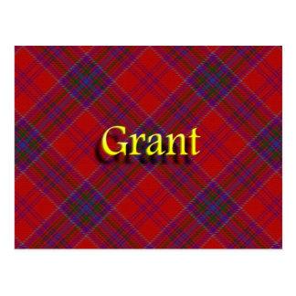 Schottischer Clan Grant Postkarte