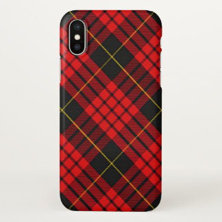 Schottischer Clan MacQueen Tartan kariert iPhone X Hülle