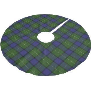 Schottischer Clan Muir Tartan Polyester Weihnachtsbaumdecke